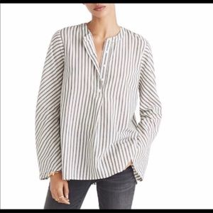 MADEWELL | Striped Flare Sleeve Shirt Top Sz. M